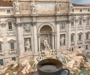 coffee, travel, and girl image