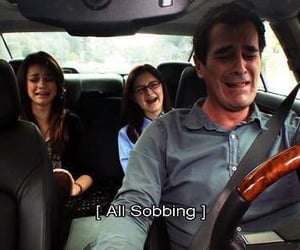 modern family, funny, and sobbing image