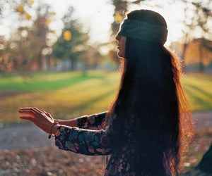autumn, girl, and hands image