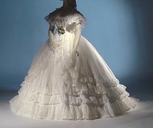 vintage fashion, frilled, and white image