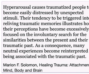 quote and trauma image