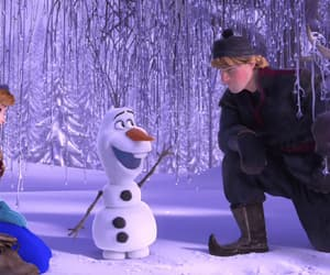 anna, beautiful, and snowman image