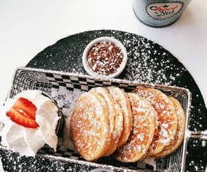 choco, delicious, and pancakes image