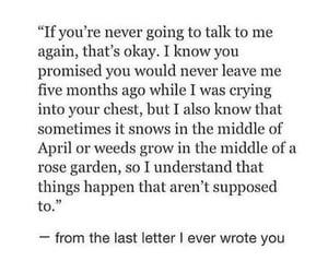 heartbreak, love letter, and okay image