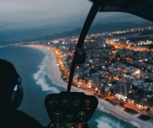 adventure, airplane, and beach image
