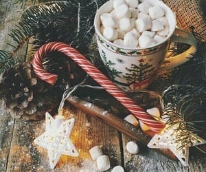marshmallow, merry christmas, and happy holidays image