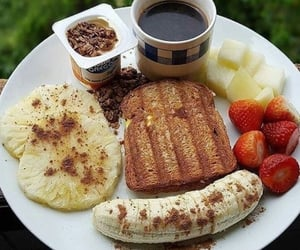 coffee, healthy, and breakfast image