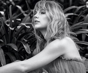 Taylor Swift, billboard, and black and white image