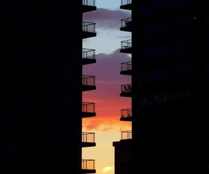 sunset, city, and photography image