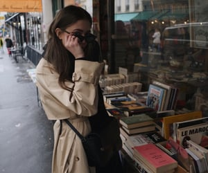 fashion, books, and girl image