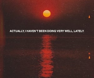 quotes, sad, and sunset image
