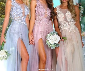 bridesmaids, wedding, and bridesmaid dresses image