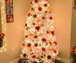 christmas, merry christmas, and sunflowers image
