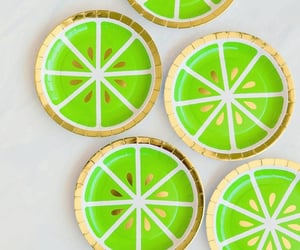 green, lime, and plates image
