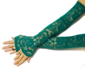 boho, gloves, and green image