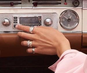 vintage, car, and radio image
