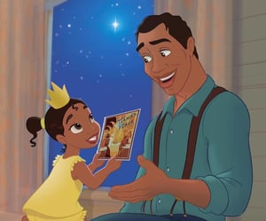 animated, disney, and Father and Daughter image
