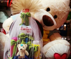 gifts and teddy bear image