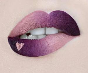 lips, heart, and makeup image
