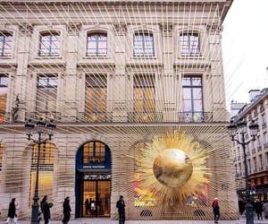 boutique, LV, and paris image