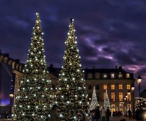 paris, paris by night, and christmas trees image