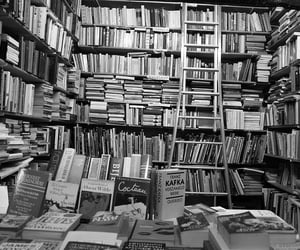 black & white, love, and books image