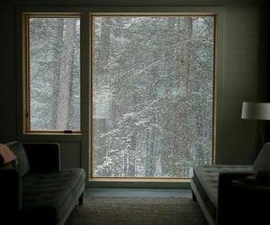snow, window, and winter image