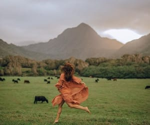 girl, happiness, and nature image