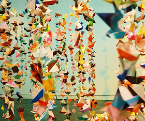 origami, Paper, and colorful image