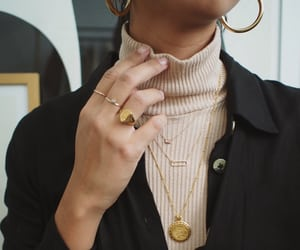 fashion, outfit, and rings image