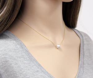etsy, pearl jewelry, and pearl necklace image