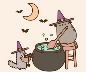 cats, witch, and pusheen image