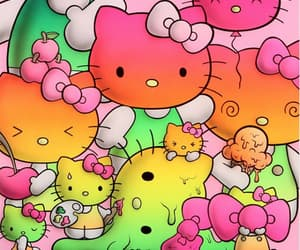 bright colors, hello kitty, and kawaii image