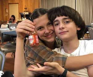 millie bobby brown, stranger things, and noah schnapp image