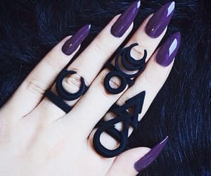 beauty, goth, and jewelry image