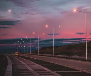 lights, long drive, and sky image