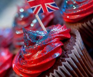 cupcake, england, and food image