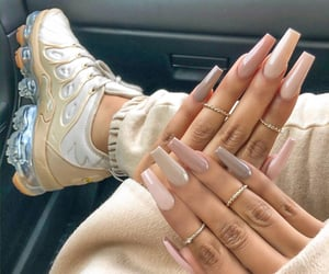 nails, Nude, and shoes image