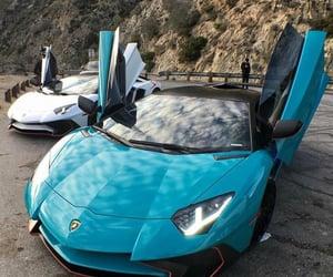blue, car, and Lamborghini image
