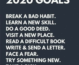 2020, goals, and happiness image