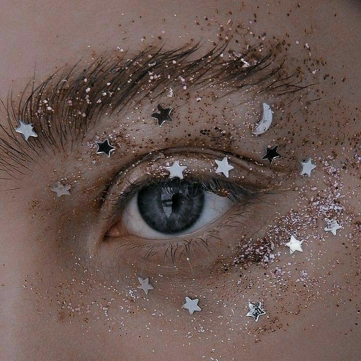 stars, eyes, and glitter image