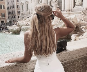 beauty, blond, and hairstyle image