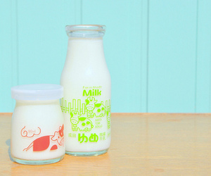 milk, cute, and food image