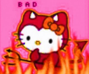 hello kitty, aesthetic, and Devil image