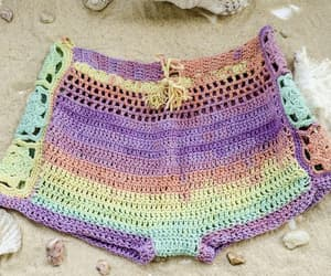 etsy, lace crochet shorts, and low cut crochet image