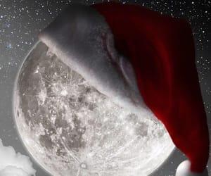 christmas, moon, and wallpaper image
