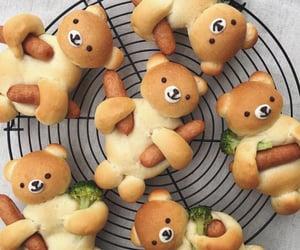 food, bear, and broccoli image