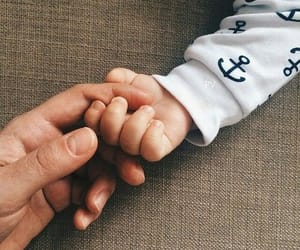 baby, family, and baby hand image