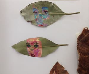 art, leaves, and nature image