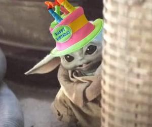 birthday, star wars, and baby yoda image